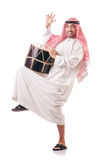 Arab man playing drum Royalty Free Stock Image