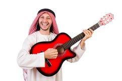 Arab man playing guitar Royalty Free Stock Photo