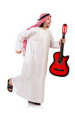 Arab man playing guitar Royalty Free Stock Photo