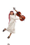 Arab man playing musical instrument Royalty Free Stock Images