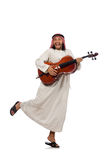 Arab man playing musical instrument Royalty Free Stock Photography