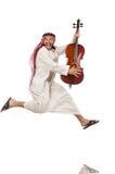 Arab man playing musical instrument Stock Image