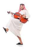 Arab man playing violin Stock Image