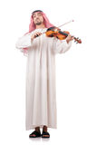 Arab man playing violin Stock Photography