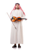 Arab man playing violin Stock Photos
