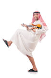 Arab man playing violin isolated Stock Photography