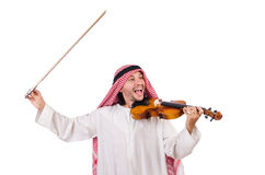 Arab man playing violing Stock Images