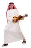 Arab man playing violing Royalty Free Stock Photography
