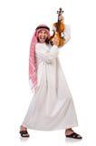 Arab man playing violing Royalty Free Stock Photos