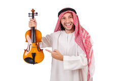 Arab man playing violing Royalty Free Stock Photo