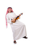 Arab man playing violing Royalty Free Stock Photos