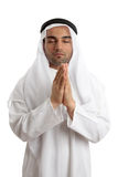 Arab man praying to God Stock Photography