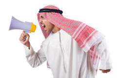 Arab man shouting Stock Images
