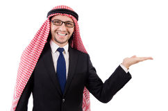 Arab man in specs holding hands Royalty Free Stock Photos
