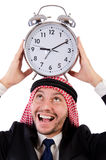 Arab man in time concept Royalty Free Stock Photography