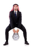 Arab man in time concept Royalty Free Stock Photo