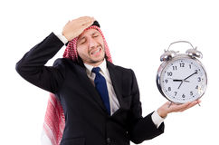 Arab man in time concept Stock Image