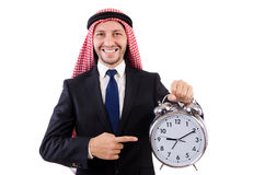 Arab man in time concept Royalty Free Stock Image