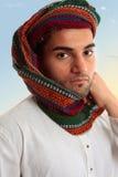 Arab Man in traditional turban keffiyeh Stock Images