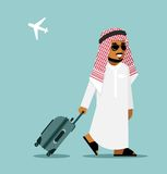 Arab man in travel concept Royalty Free Stock Photo