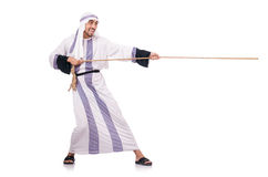 Arab man in tug of war Stock Photos