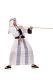 Arab man. In tug of war concept Stock Images