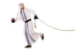 Arab man. In tug of war concept Royalty Free Stock Images