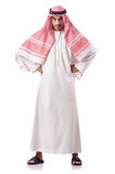Arab man  on white Royalty Free Stock Image