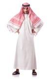 Arab man  on white Royalty Free Stock Image