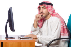 The arab man working in the office Stock Images