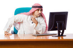 The arab man working in the office Royalty Free Stock Image