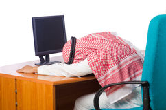The arab man working in the office Stock Photos