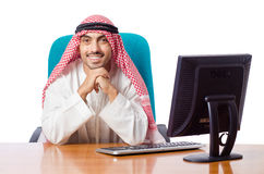 The arab man working in the office Stock Photo
