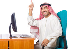 Arab man working in the office Stock Photography