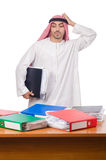 Arab man working in the office Stock Image
