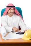 Arab man working in the office Royalty Free Stock Photography
