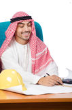 Arab man working in the office Stock Photos