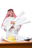 Arab man working in the office Royalty Free Stock Image