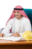 The arab man working in the office Stock Image