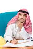 Arab man working in the office Royalty Free Stock Images