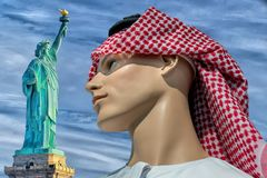 Arab mannaquin dummy man in new york Stock Images