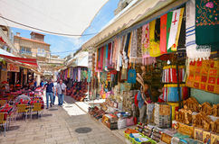 The Arab market of the old city Jerusalem, Israel Royalty Free Stock Photos