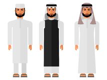 Arab men in a national dress Stock Photos