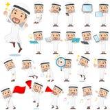 Arab men 2. Set of various poses of Arab men 2 Stock Images