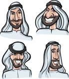 Arab men smiling faces Royalty Free Stock Photo