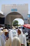 Arab Men, Traditional Dress, Douz Market, Tunisia Stock Images