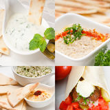 Arab middle east food collection Royalty Free Stock Images