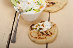 Arab middle east goat yogurt and cucumber salad Royalty Free Stock Photography