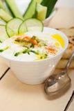 Arab middle east goat yogurt and cucumber salad Royalty Free Stock Image