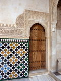 Arab moorish door Royalty Free Stock Image